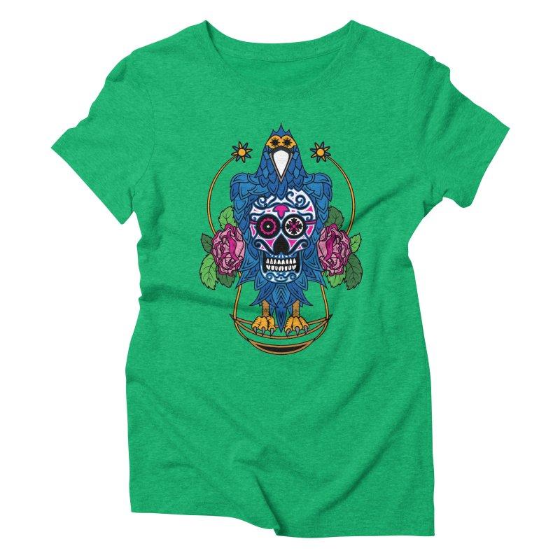 Sugar Raven Skull Women's Triblend T-Shirt by thebraven's Artist Shop