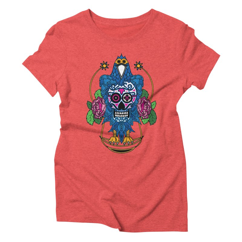 Sugar Raven Skull Women's Triblend T-Shirt by thebraven's Artist Shop