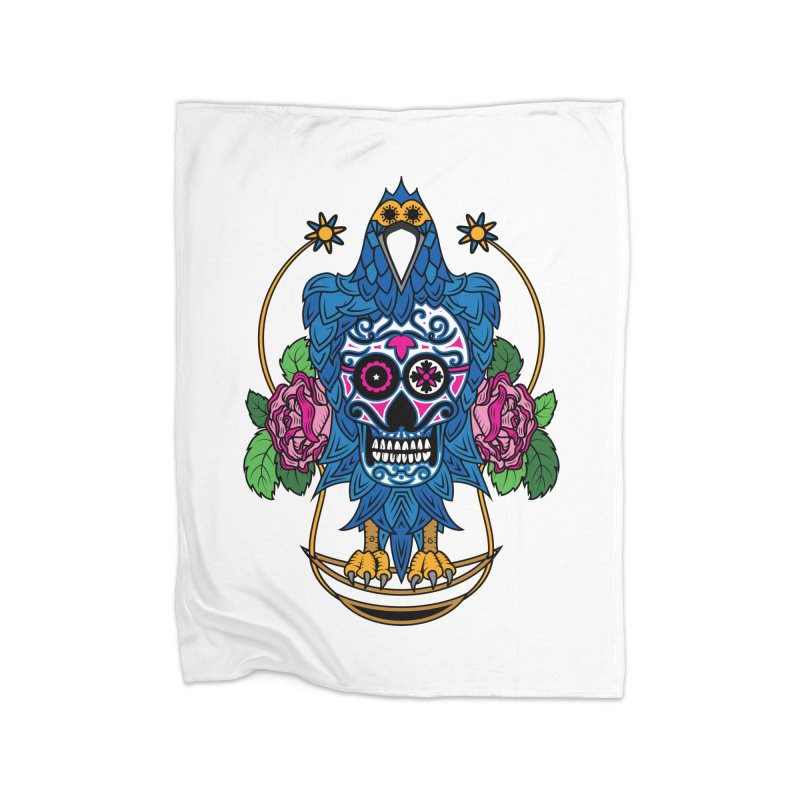 Sugar Raven Skull Home Blanket by thebraven's Artist Shop