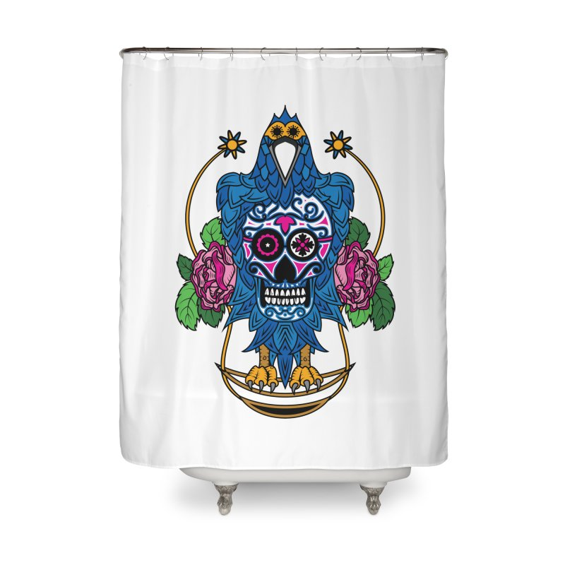 Sugar Raven Skull Home Shower Curtain by thebraven's Artist Shop