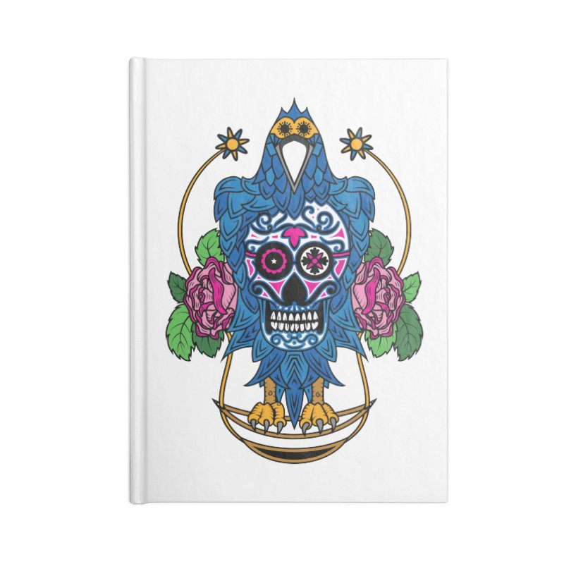 Sugar Raven Skull Accessories Notebook by thebraven's Artist Shop