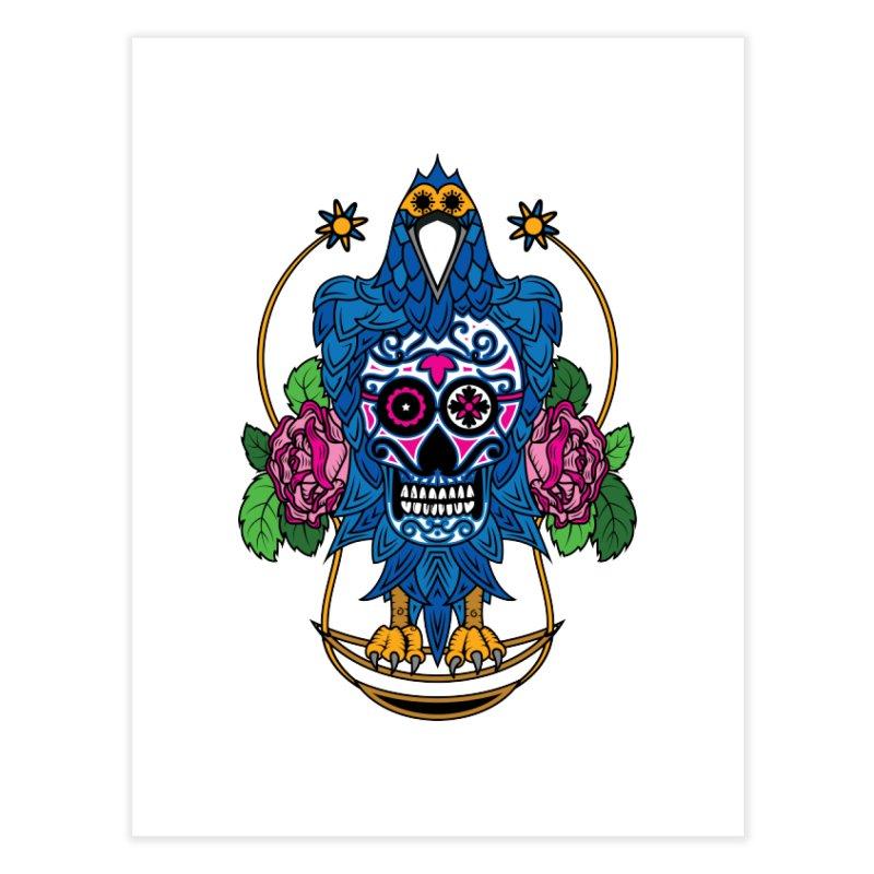 Sugar Raven Skull Home Fine Art Print by thebraven's Artist Shop