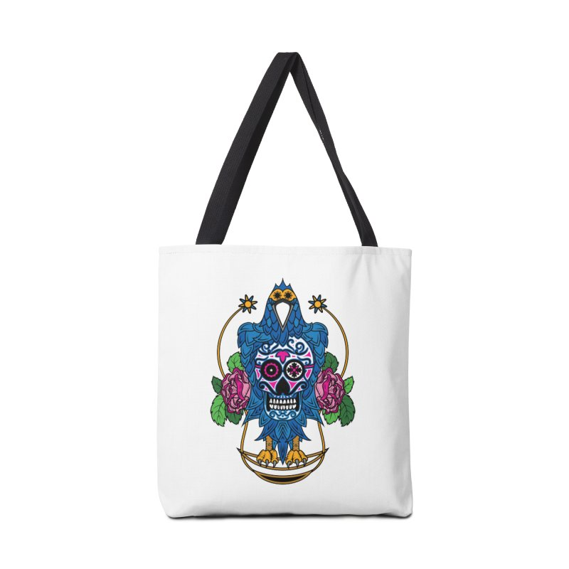 Sugar Raven Skull Accessories Bag by thebraven's Artist Shop
