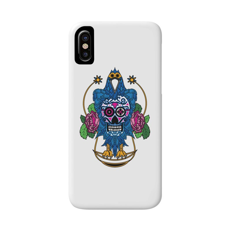 Sugar Raven Skull Accessories Phone Case by thebraven's Artist Shop