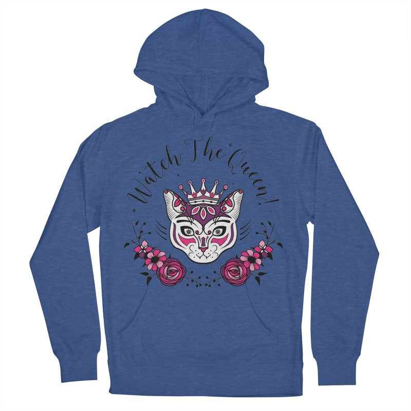 Cat Queen  Women's French Terry Pullover Hoody by thebraven's Artist Shop