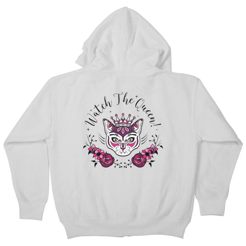 Cat Queen  Kids Zip-Up Hoody by thebraven's Artist Shop