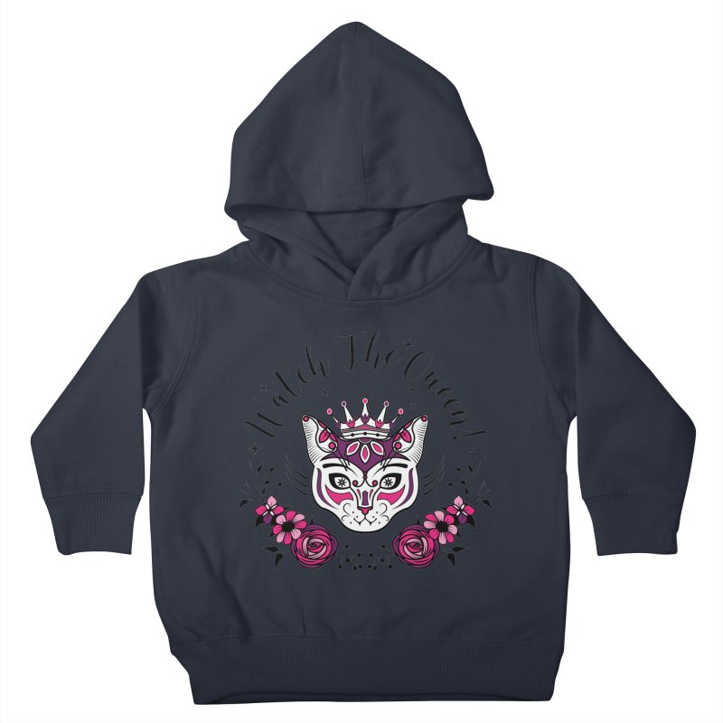 Cat Queen  Kids Toddler Pullover Hoody by thebraven's Artist Shop