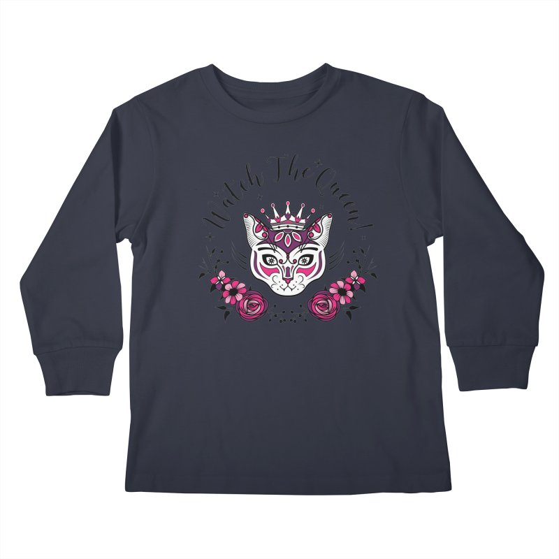 Cat Queen  Kids Longsleeve T-Shirt by thebraven's Artist Shop