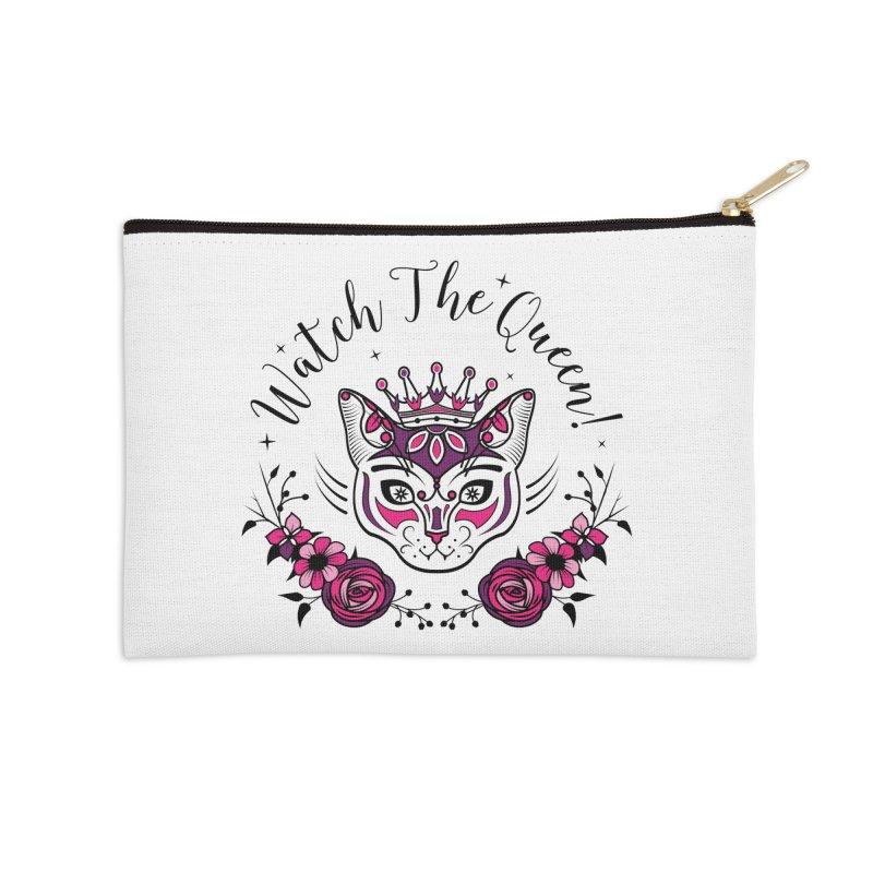 Cat Queen  Accessories Zip Pouch by thebraven's Artist Shop