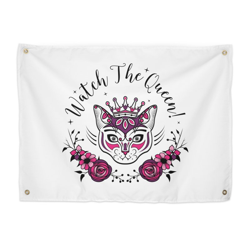 Cat Queen  Home Tapestry by thebraven's Artist Shop