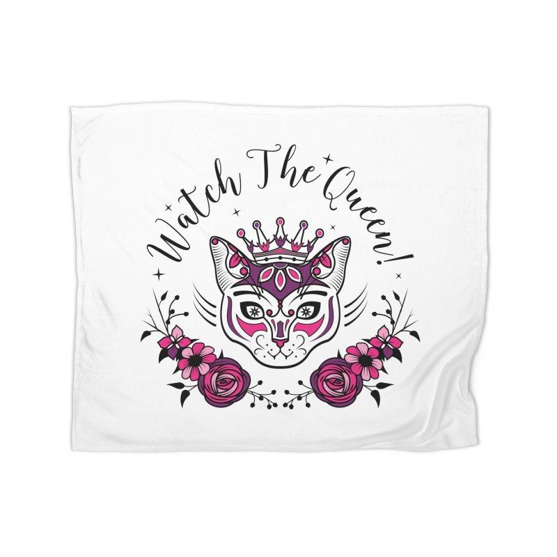 Cat Queen  Home Fleece Blanket Blanket by thebraven's Artist Shop