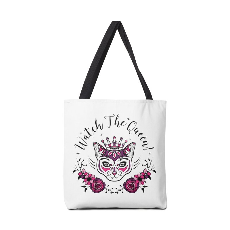 Cat Queen  Accessories Bag by thebraven's Artist Shop