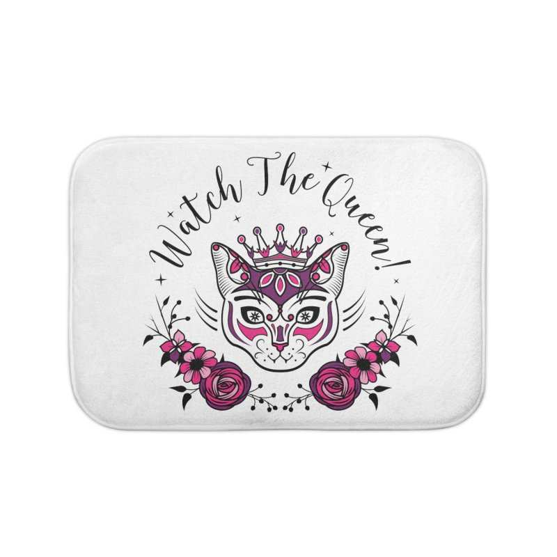 Cat Queen  Home Bath Mat by thebraven's Artist Shop