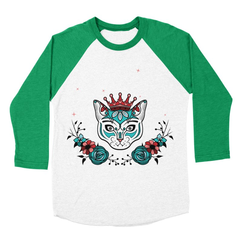 Cat Queen  Women's Baseball Triblend Longsleeve T-Shirt by thebraven's Artist Shop