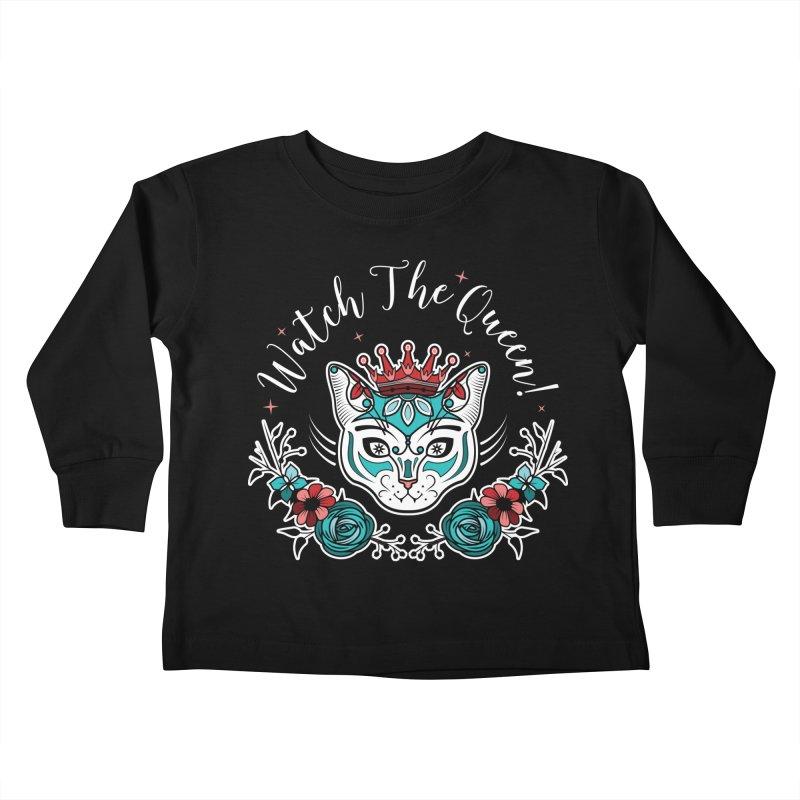 Cat Queen  Kids Toddler Longsleeve T-Shirt by thebraven's Artist Shop