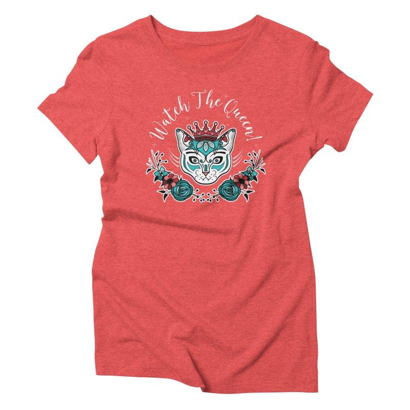 Cat Queen  Women's Triblend T-shirt by thebraven's Artist Shop