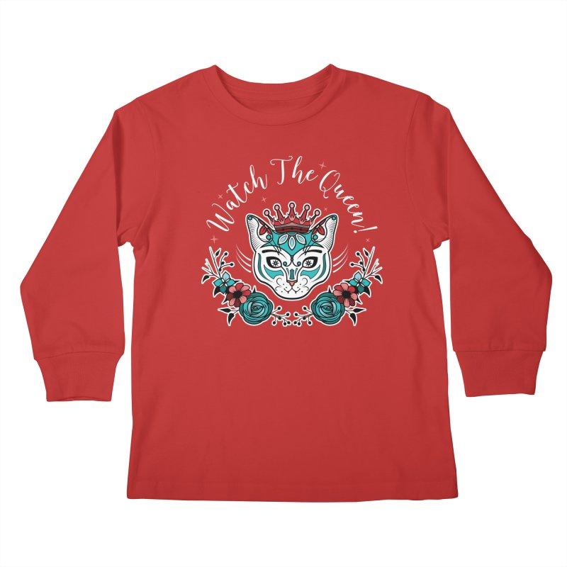 Cat Queen  Kids Longsleeve T-Shirt by thebraven's Artist Shop