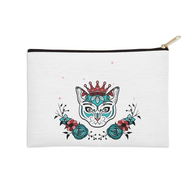 Cat Queen  Accessories Zip Pouch by thebraven's Artist Shop