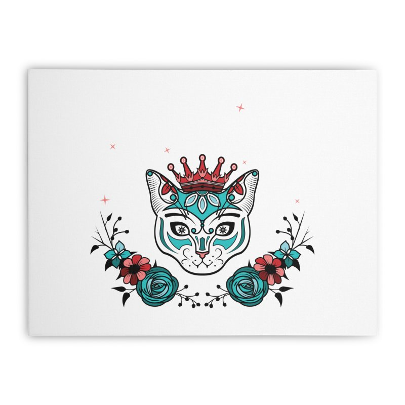 Cat Queen  Home Stretched Canvas by thebraven's Artist Shop