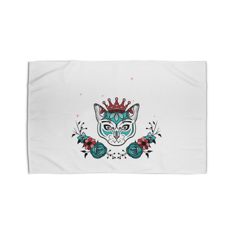 Cat Queen  Home Rug by thebraven's Artist Shop