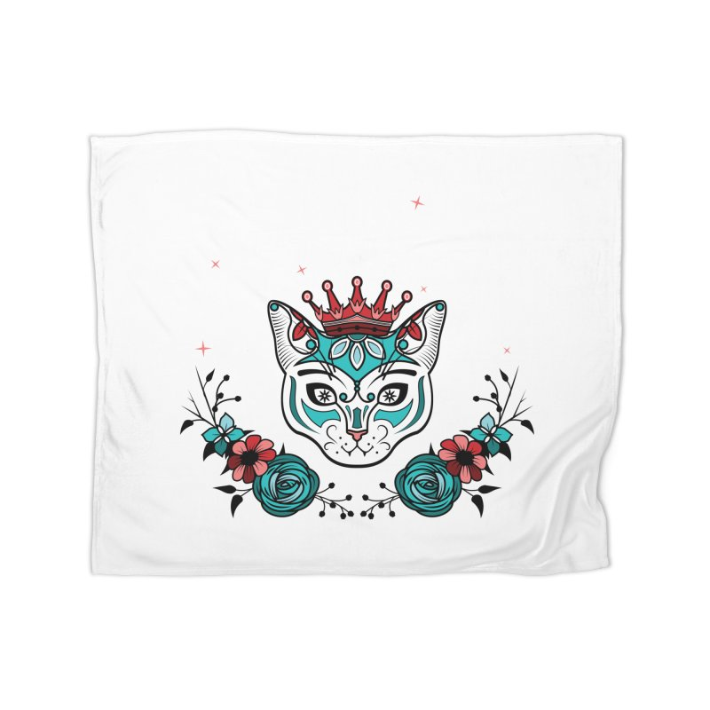 Cat Queen  Home Blanket by thebraven's Artist Shop