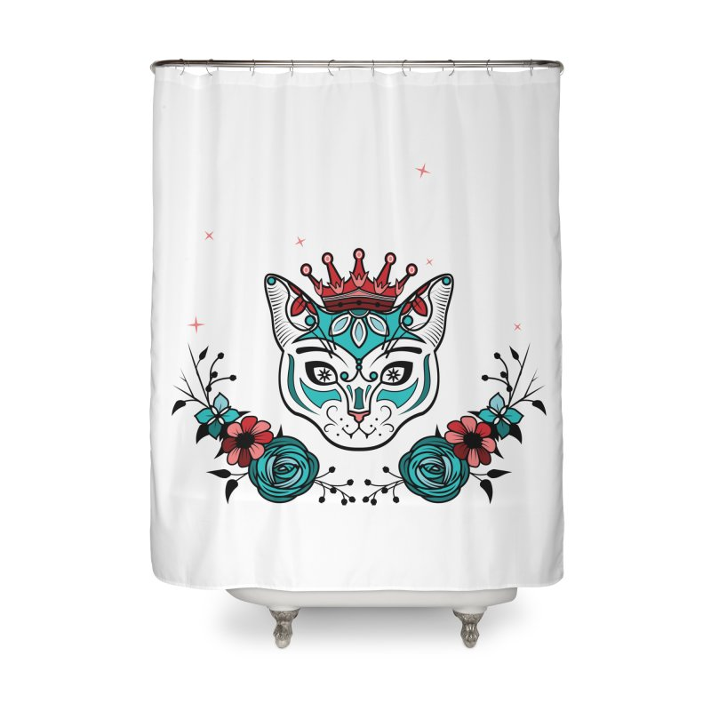 Cat Queen  Home Shower Curtain by thebraven's Artist Shop