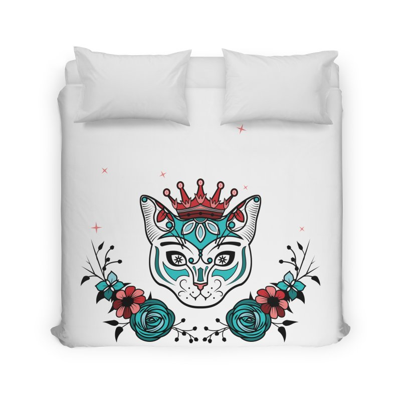 Cat Queen  Home Duvet by thebraven's Artist Shop
