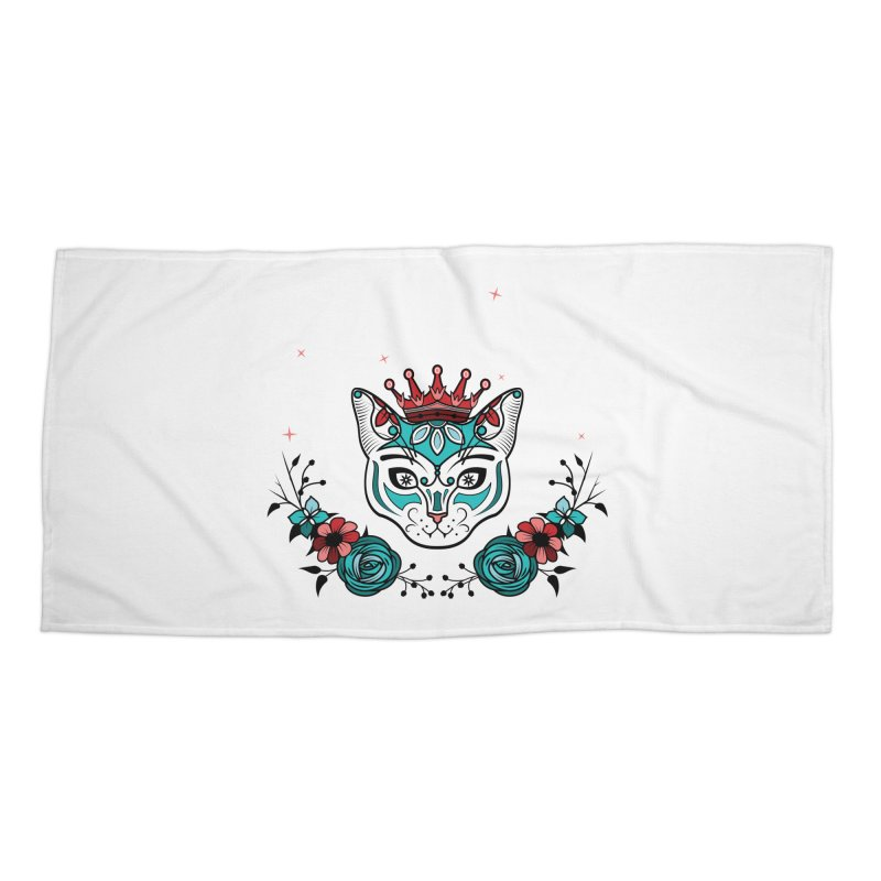 Cat Queen  Accessories Beach Towel by thebraven's Artist Shop