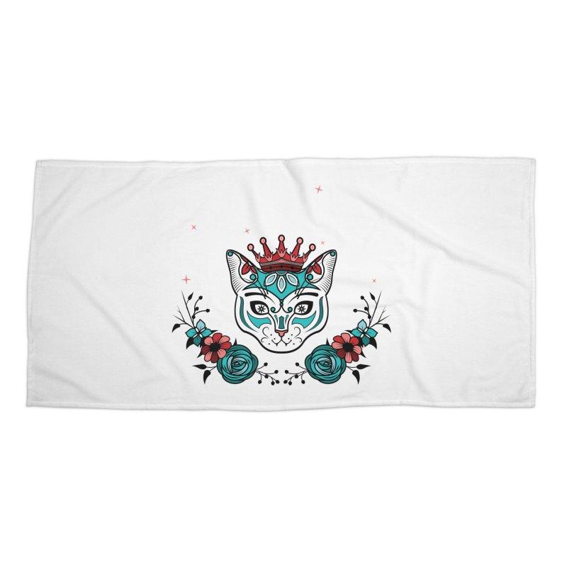 Cat Queen  Accessories Beach Towel by thebraven's Artist Shop