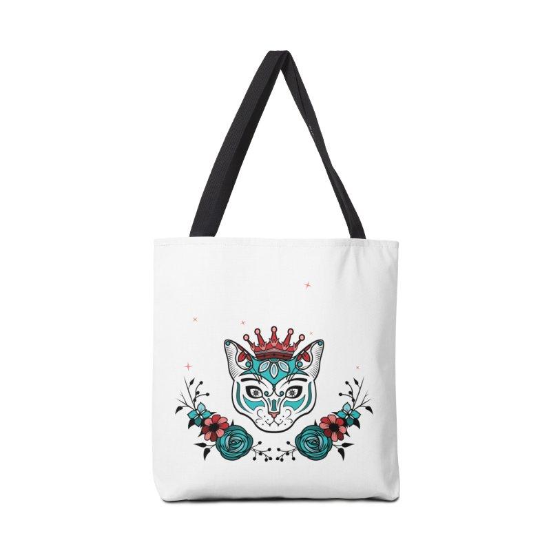 Cat Queen  Accessories Bag by thebraven's Artist Shop