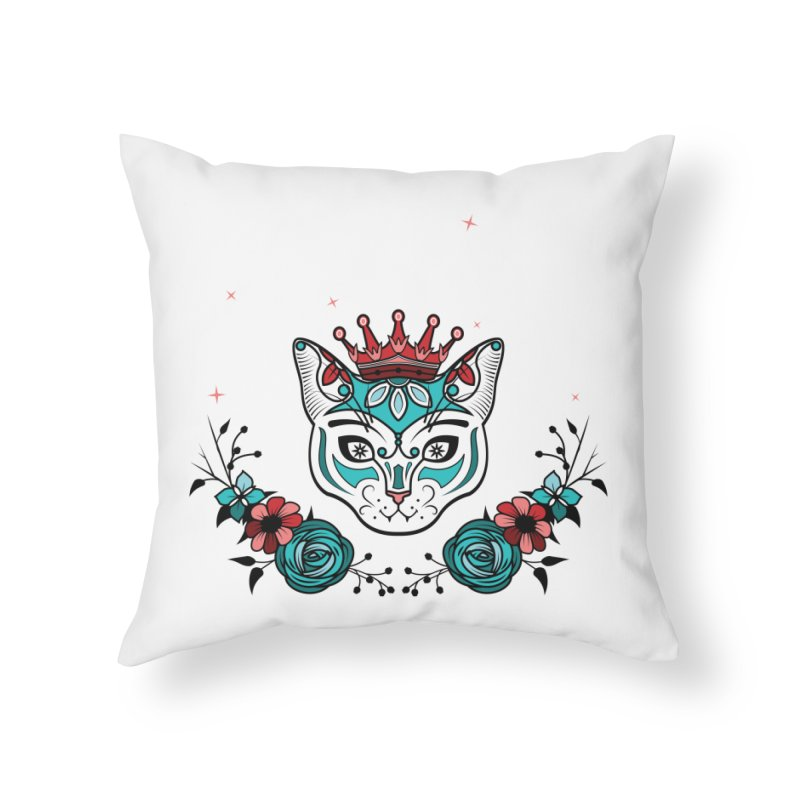 Cat Queen  Home Throw Pillow by thebraven's Artist Shop