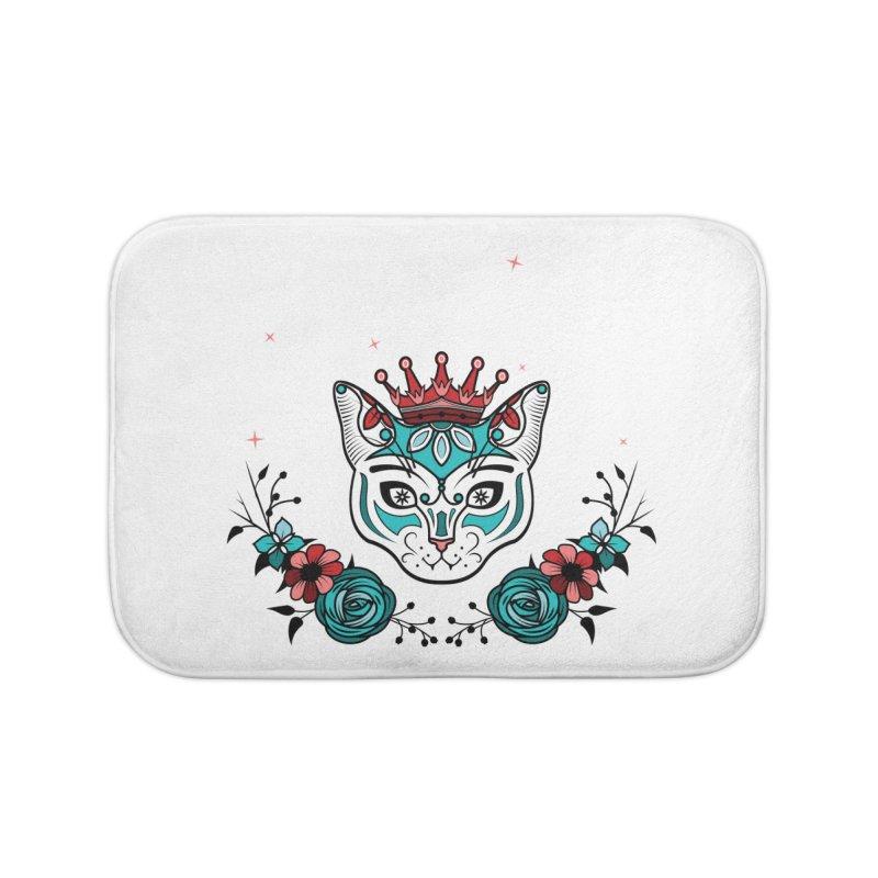 Cat Queen  Home Bath Mat by thebraven's Artist Shop