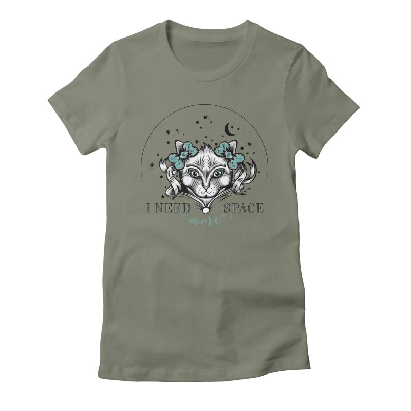 I need (more) space.. Women's Fitted T-Shirt by thebraven's Artist Shop