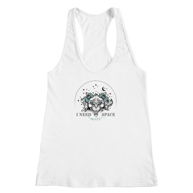 I need (more) space.. Women's Racerback Tank by thebraven's Artist Shop