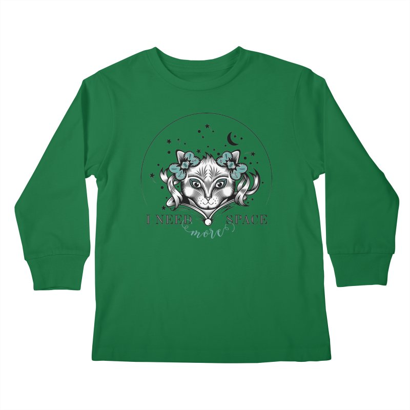 I need (more) space.. Kids Longsleeve T-Shirt by thebraven's Artist Shop