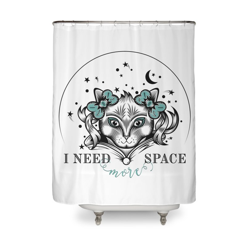 I need (more) space.. Home Shower Curtain by thebraven's Artist Shop