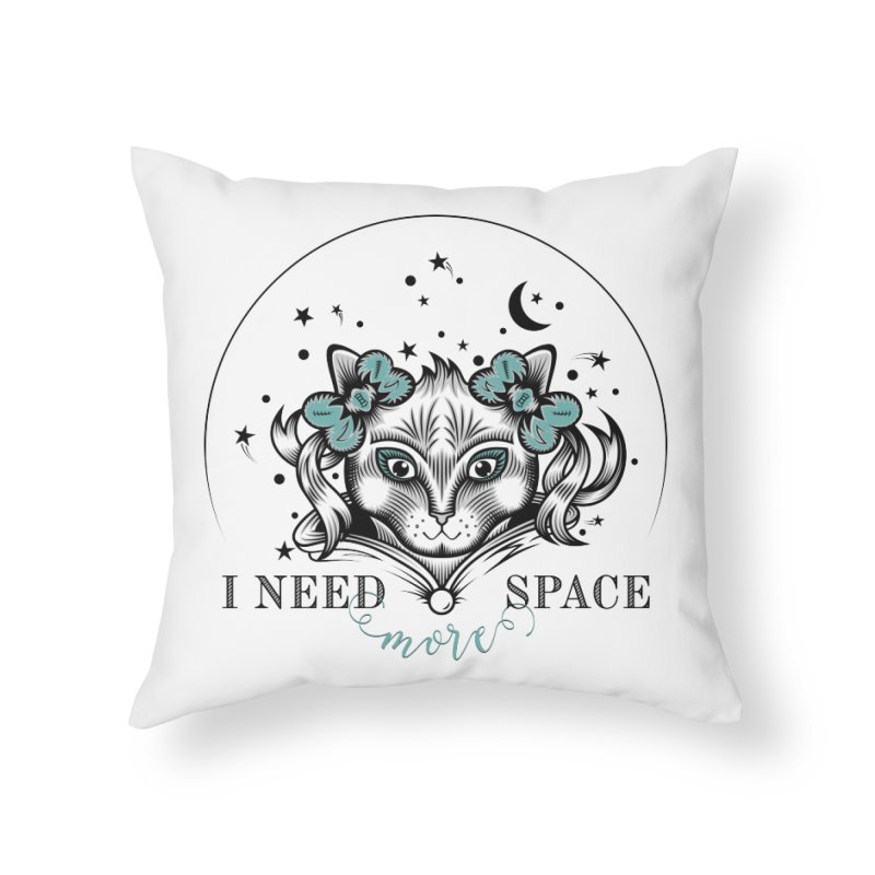 I need (more) space.. Home Throw Pillow by thebraven's Artist Shop