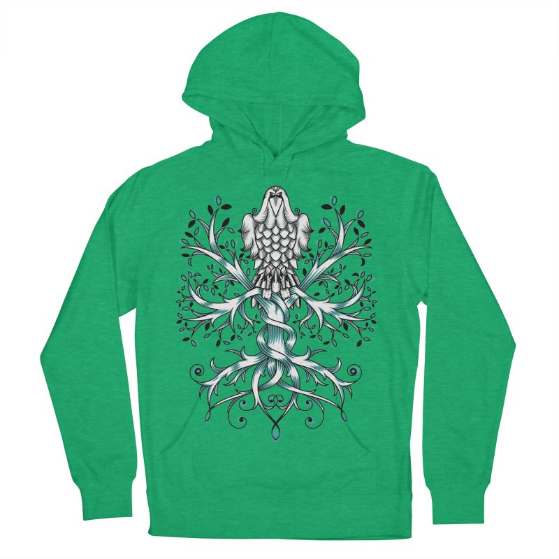 Raven & Tree of Life Women's French Terry Pullover Hoody by thebraven's Artist Shop