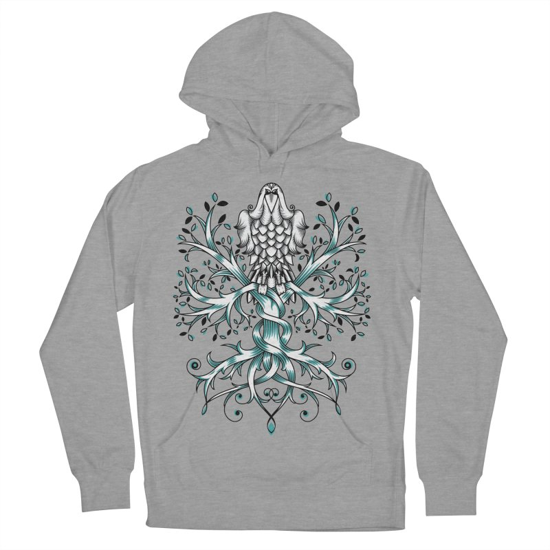 Raven & Tree of Life Men's French Terry Pullover Hoody by thebraven's Artist Shop