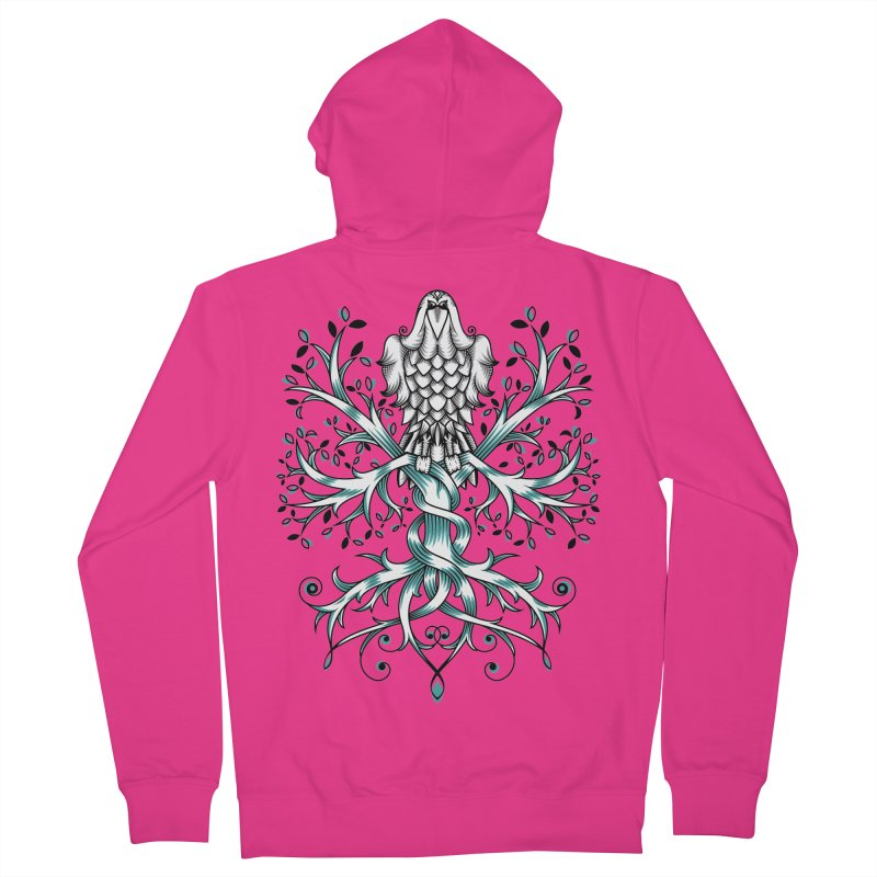 Raven & Tree of Life Men's Zip-Up Hoody by thebraven's Artist Shop