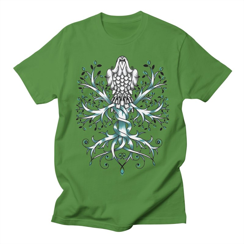 Raven & Tree of Life Men's Regular T-Shirt by thebraven's Artist Shop