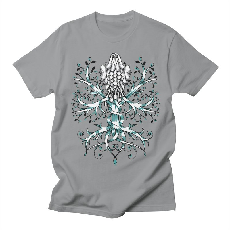 Raven & Tree of Life Men's Regular T-Shirt by thebraven's Artist Shop