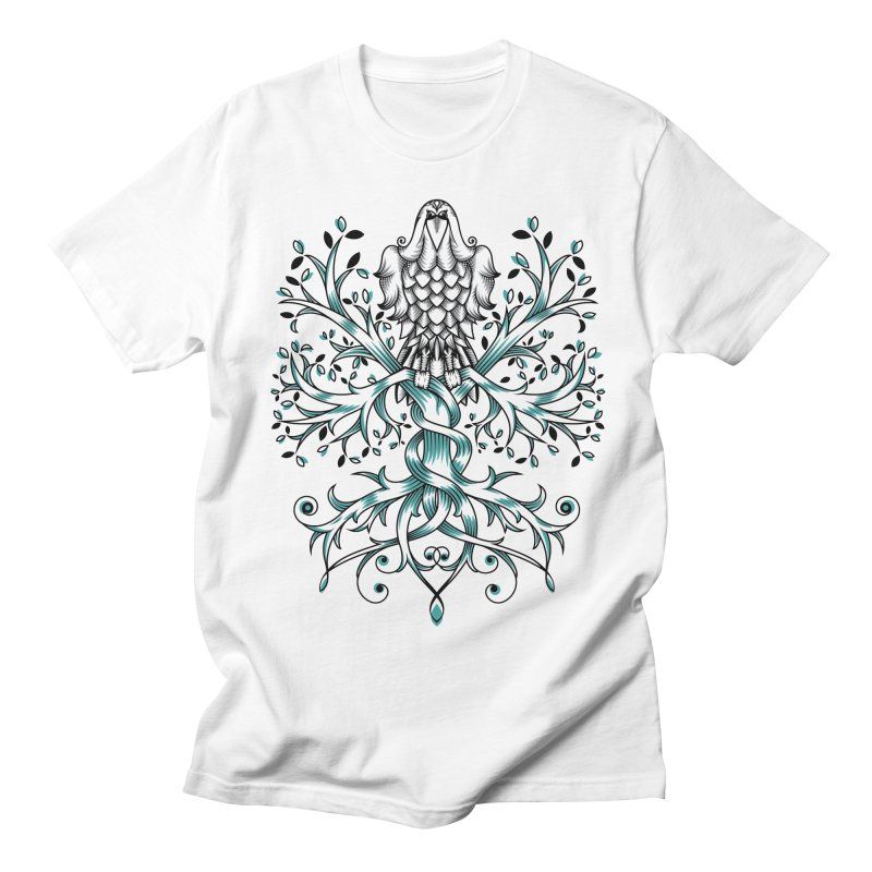 Raven & Tree of Life Men's T-shirt by thebraven's Artist Shop