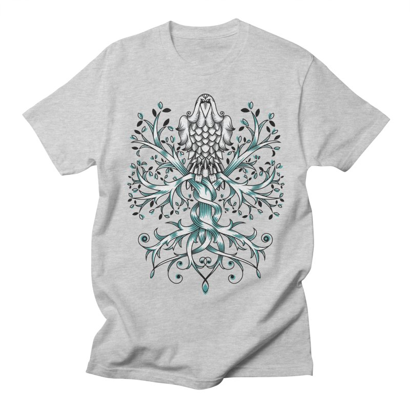 Raven & Tree of Life Men's T-Shirt by thebraven's Artist Shop