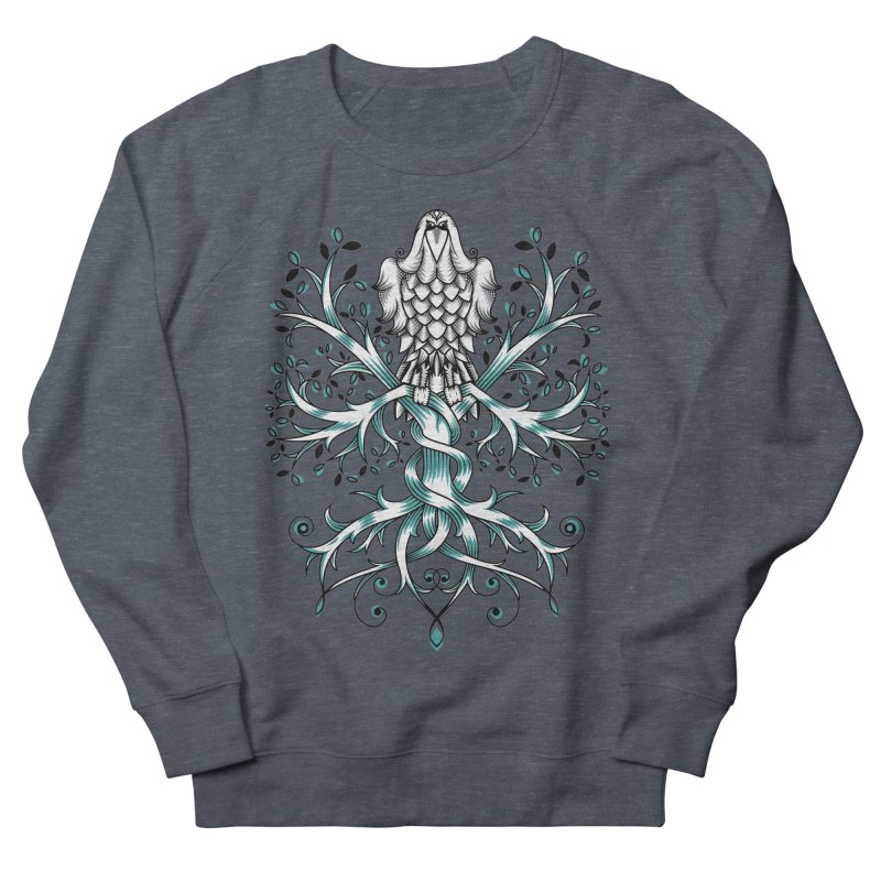 Raven & Tree of Life Men's French Terry Sweatshirt by thebraven's Artist Shop