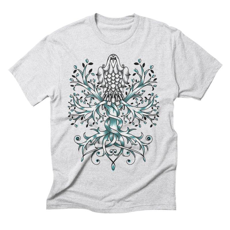 Raven & Tree of Life Men's Triblend T-Shirt by thebraven's Artist Shop