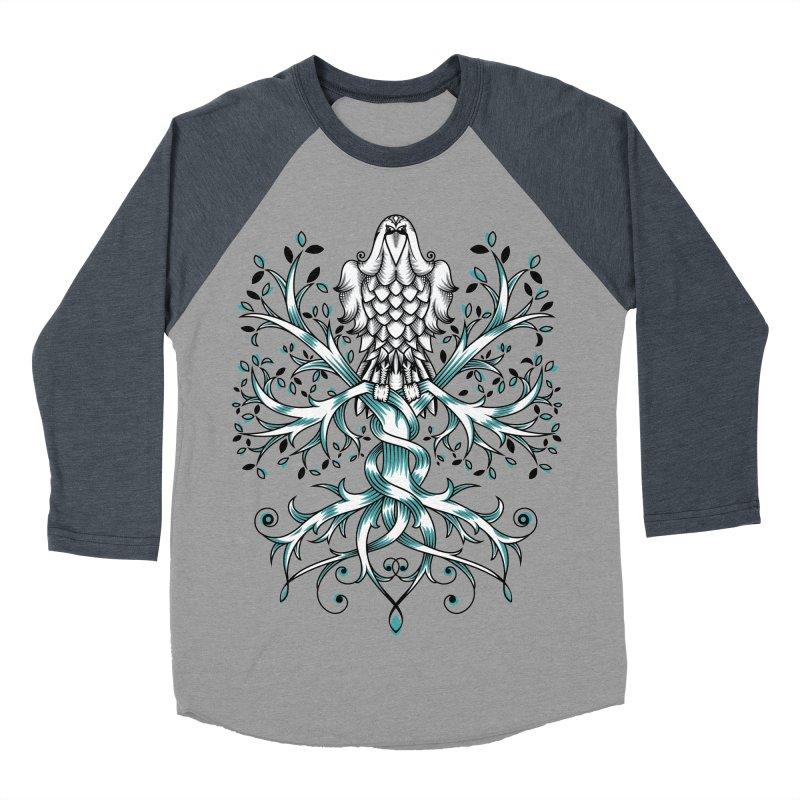 Raven & Tree of Life Men's Baseball Triblend T-Shirt by thebraven's Artist Shop