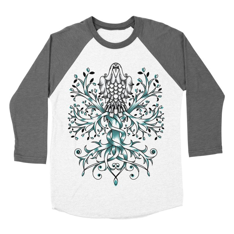Raven & Tree of Life Men's Baseball Triblend T-Shirt by thebraven's Artist Shop
