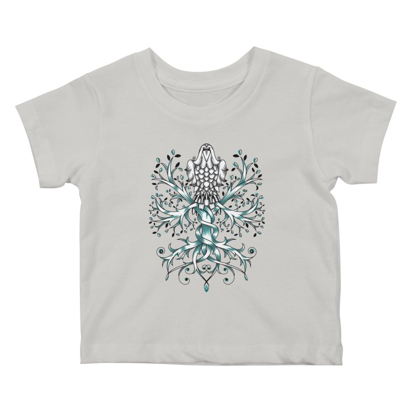 Raven & Tree of Life Kids Baby T-Shirt by thebraven's Artist Shop