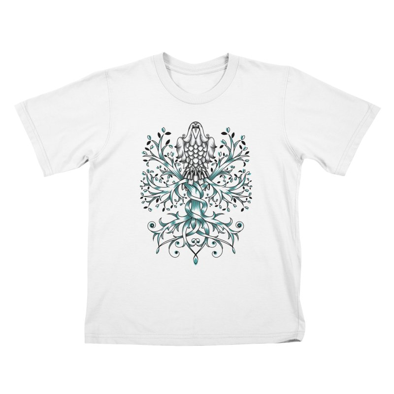 Raven & Tree of Life Kids T-Shirt by thebraven's Artist Shop